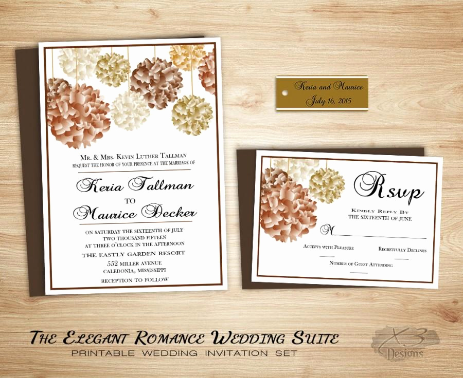 Backyard Wedding Invitation Wording Beautiful Fall Floral Country Wedding Invitation Suite Printable