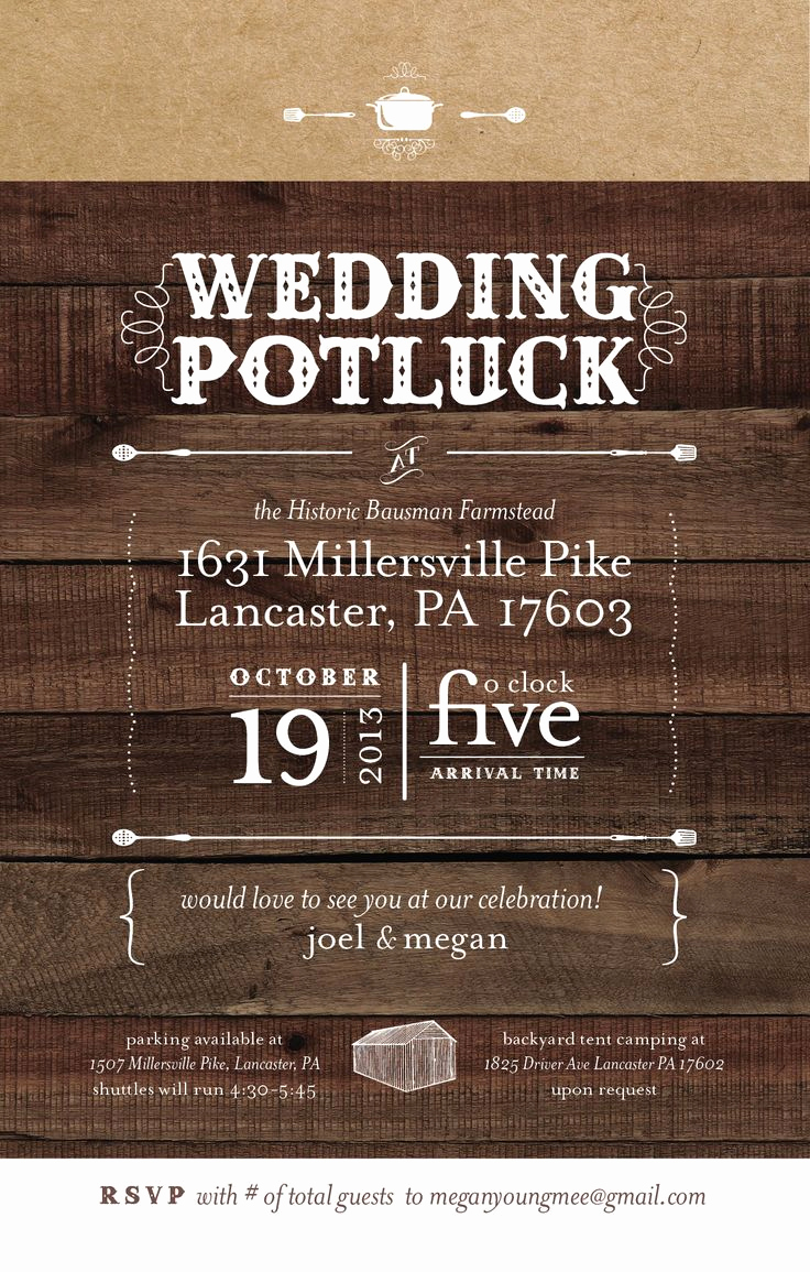 Backyard Wedding Invitation Wording Elegant 25 Best Potluck Wedding Ideas On Pinterest