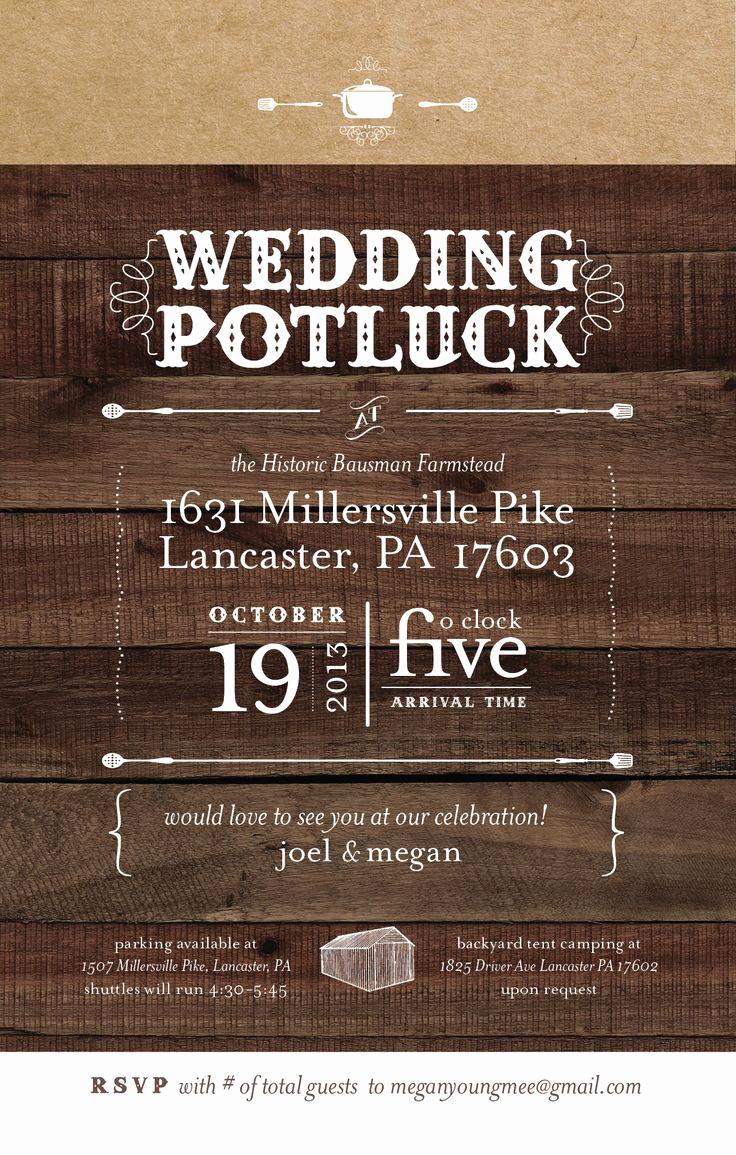 Backyard Wedding Invitation Wording Elegant 25 Best Potluck Wedding Ideas On Pinterest