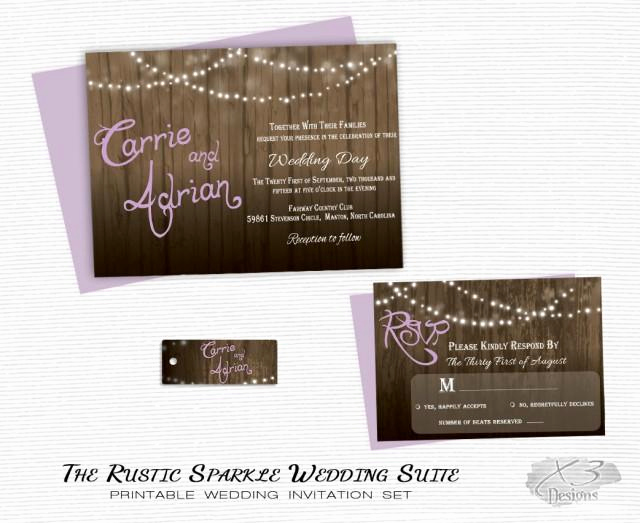 Backyard Wedding Invitation Wording Elegant Rustic Wedding Invitation Printable Barn Wedding Country