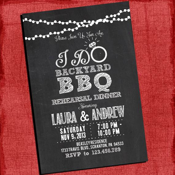 Backyard Wedding Invitation Wording Luxury Printable I Do Backyard Bbq Dinner or Barbecue