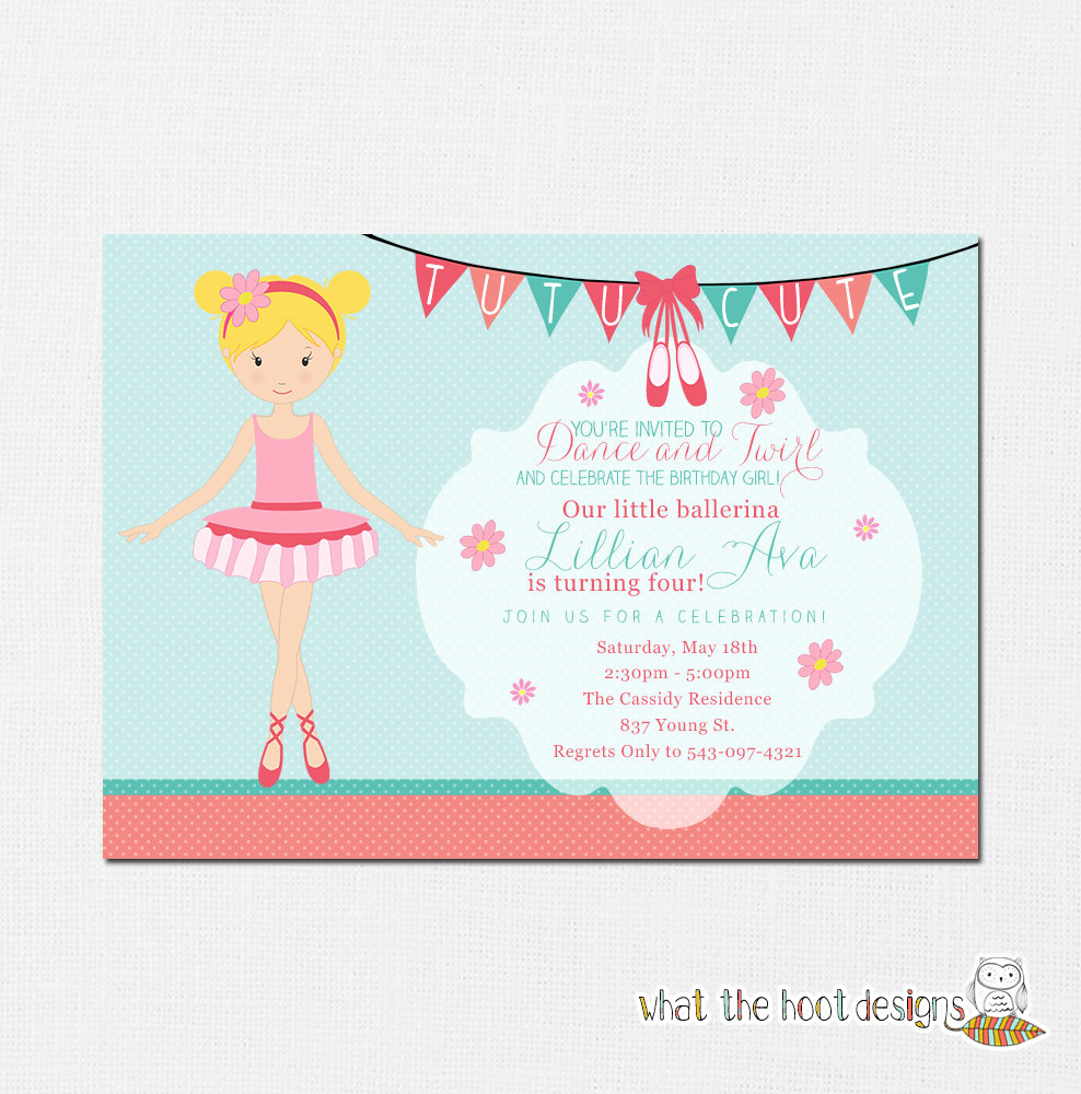 Ballerina Invitation Template Free Awesome Ballerina Invitation Ballerina Party Ballerina Birthday