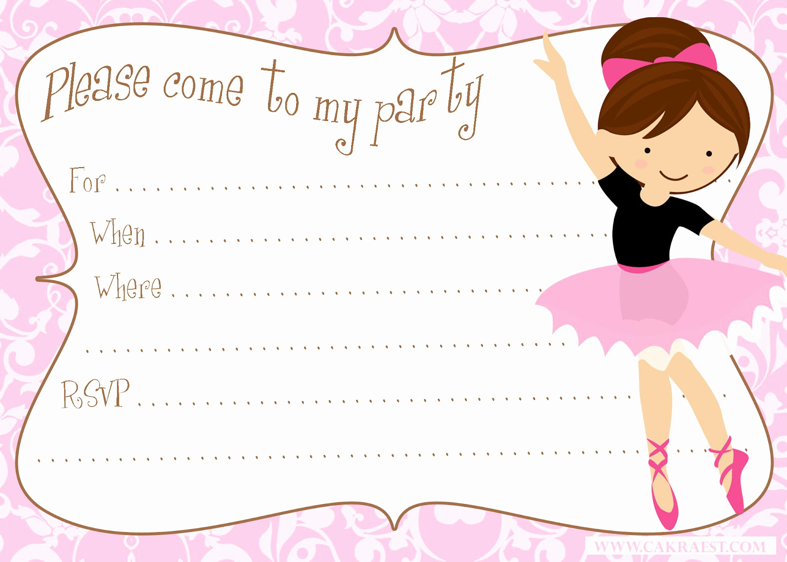 Ballerina Invitation Template Free Beautiful Cute Ballerina Baby Shower Invitations Free
