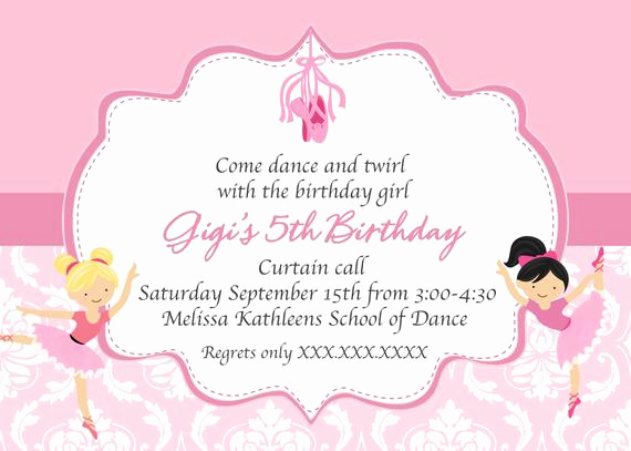 Ballerina Invitation Template Free Elegant Ballerina Birthday Printable Invitation Dance Invitation