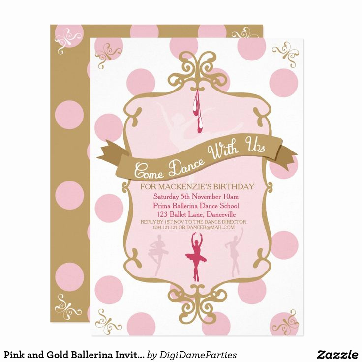 Ballerina Invitation Template Free Lovely Best 25 Invitations Ballet Ideas On Pinterest