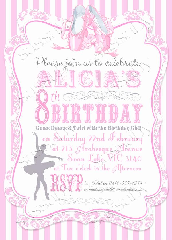 Ballerina Invitation Template Free Luxury Ballerina Invitation