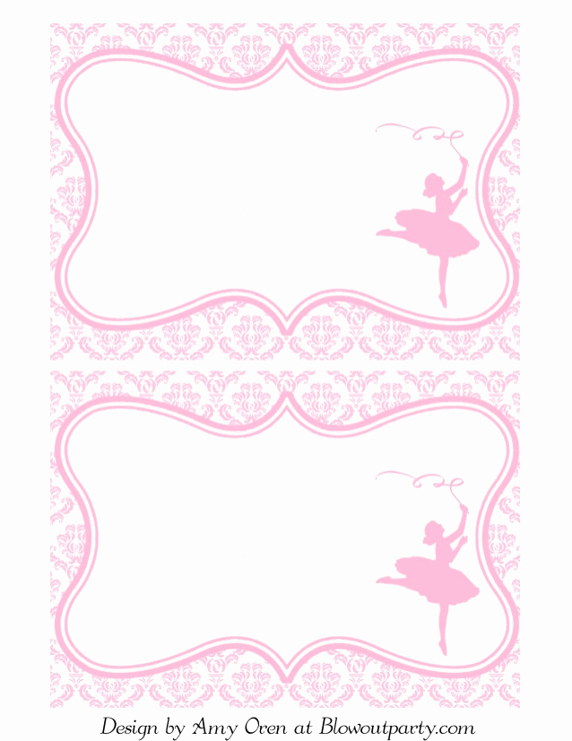 Ballerina Invitation Template Free Luxury Ballerina Party Free Printable Invitation
