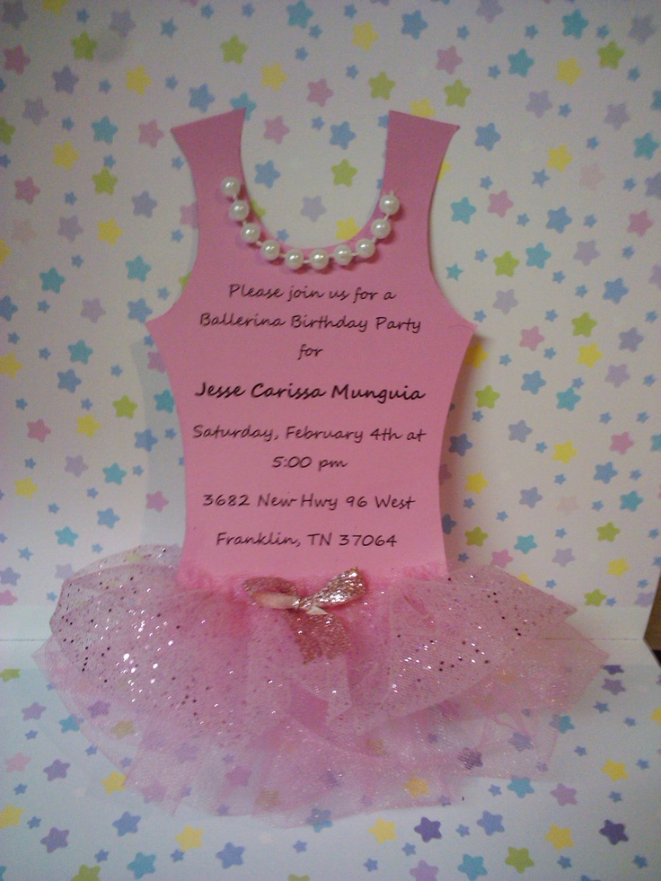 Ballerina Tutu Invitation Template Luxury 72 Best Babyshower Ideas Images On Pinterest