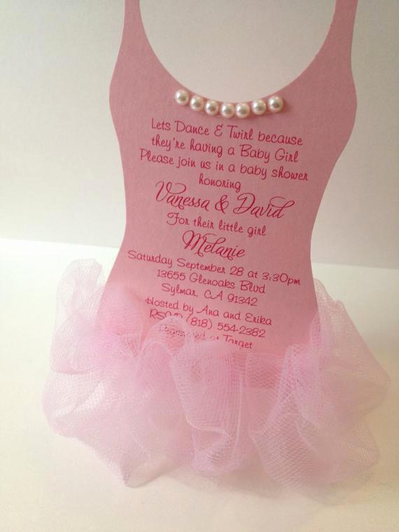 Ballerina Tutu Invitation Template Luxury Tutu Baby Shower Invitation Ballerina Baby Shower by Anaderoux
