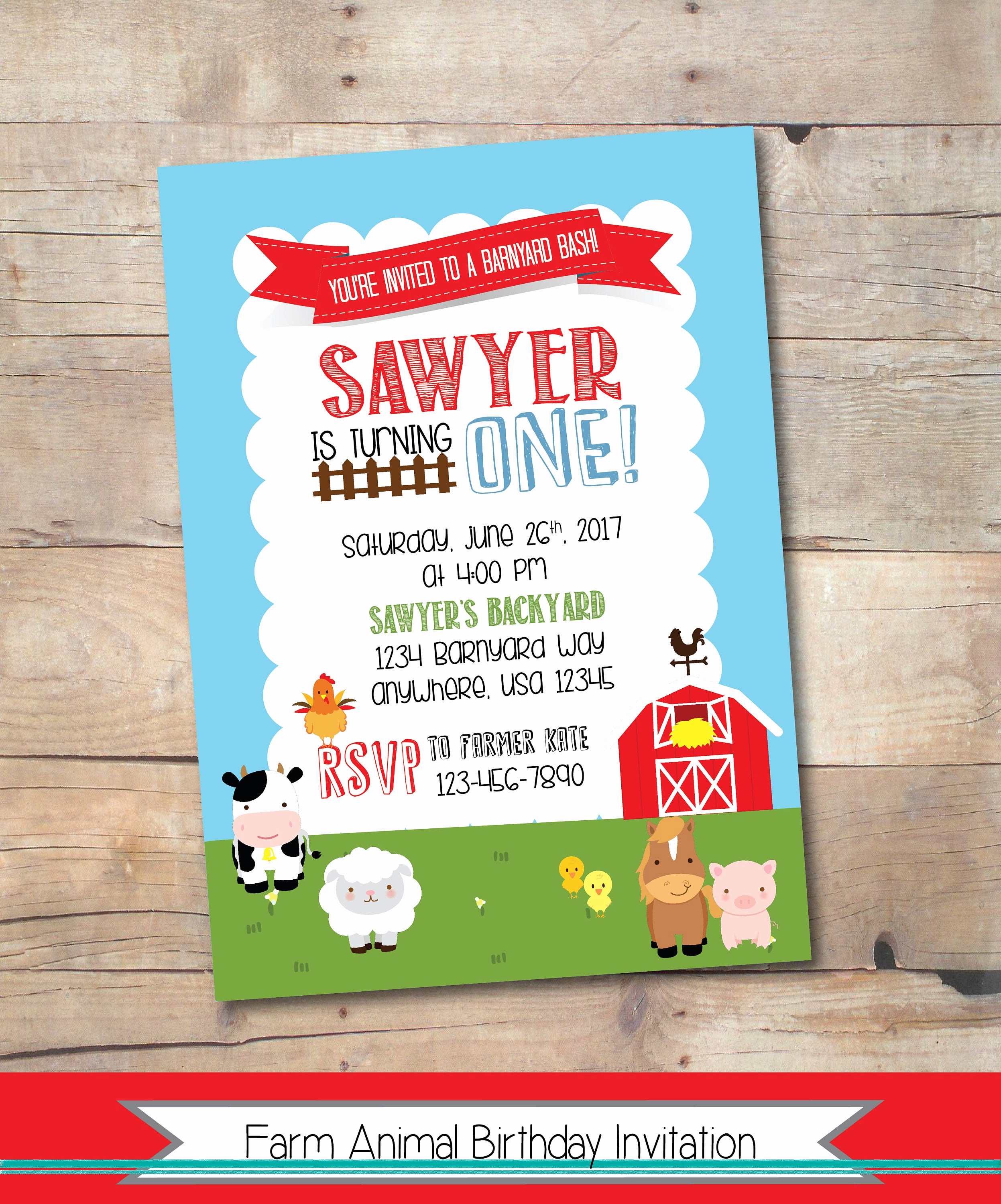 Barnyard Birthday Invitation Templates Awesome Farm Party Birthday Invitation Printable Farm Invitation