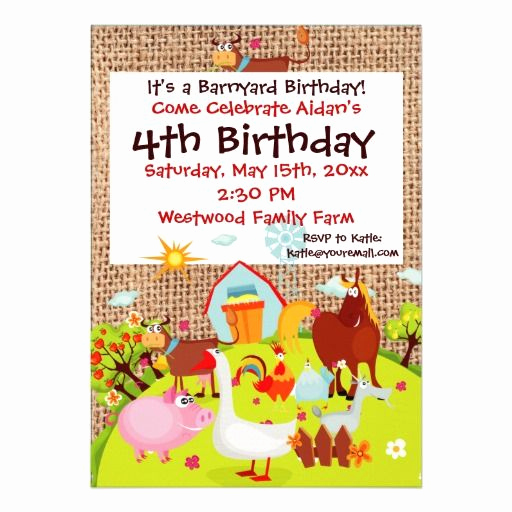Barnyard Birthday Invitation Templates Beautiful 15 Best Images About Petting Zoo Party Invitations On