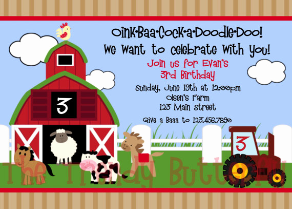 Barnyard Birthday Invitation Templates Beautiful Barnyard Birthday Invitations Ideas – Bagvania Free