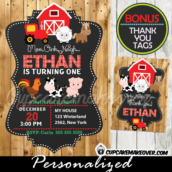 Barnyard Birthday Invitation Templates Elegant Farm Birthday Invitation Barn Wood Personalized D1