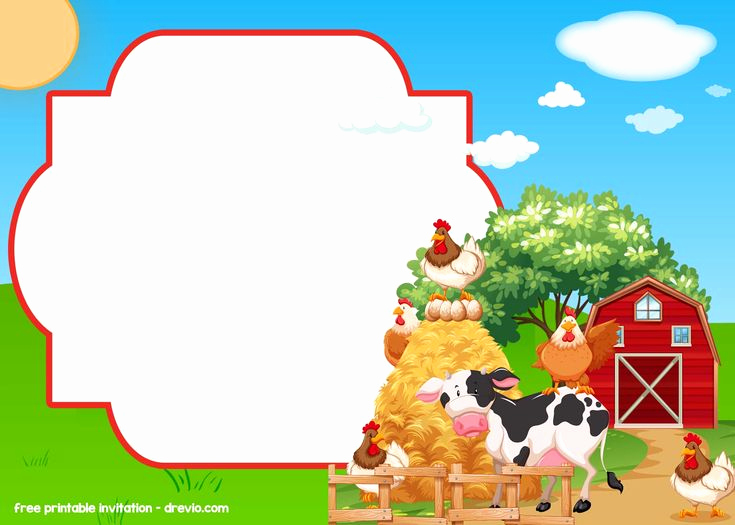 Barnyard Birthday Invitation Templates Inspirational Free Farm Barnyard Invitation