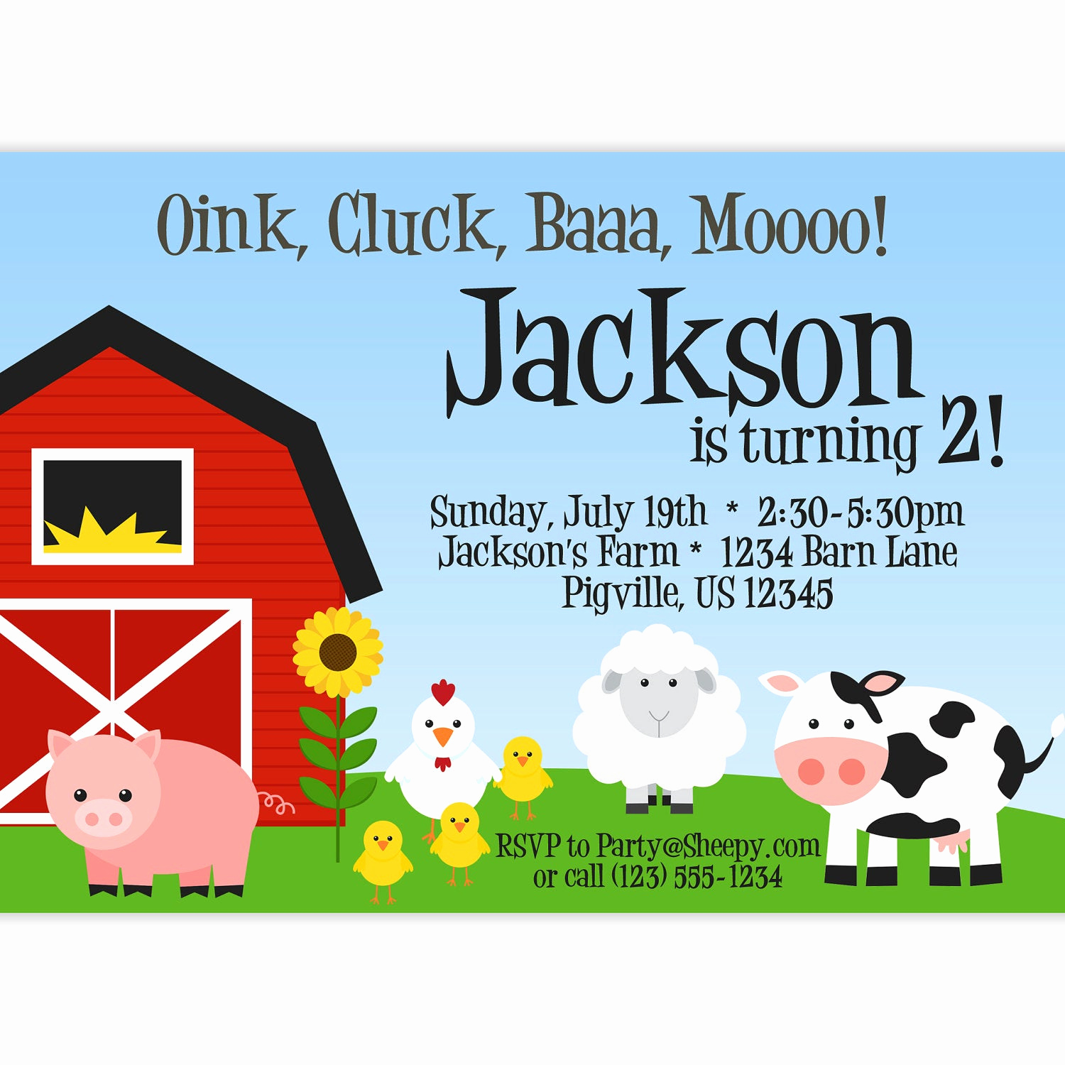 Barnyard Birthday Invitation Templates Lovely Farm Invitation Red Barn Farm Animals Pig by Purpleberryink