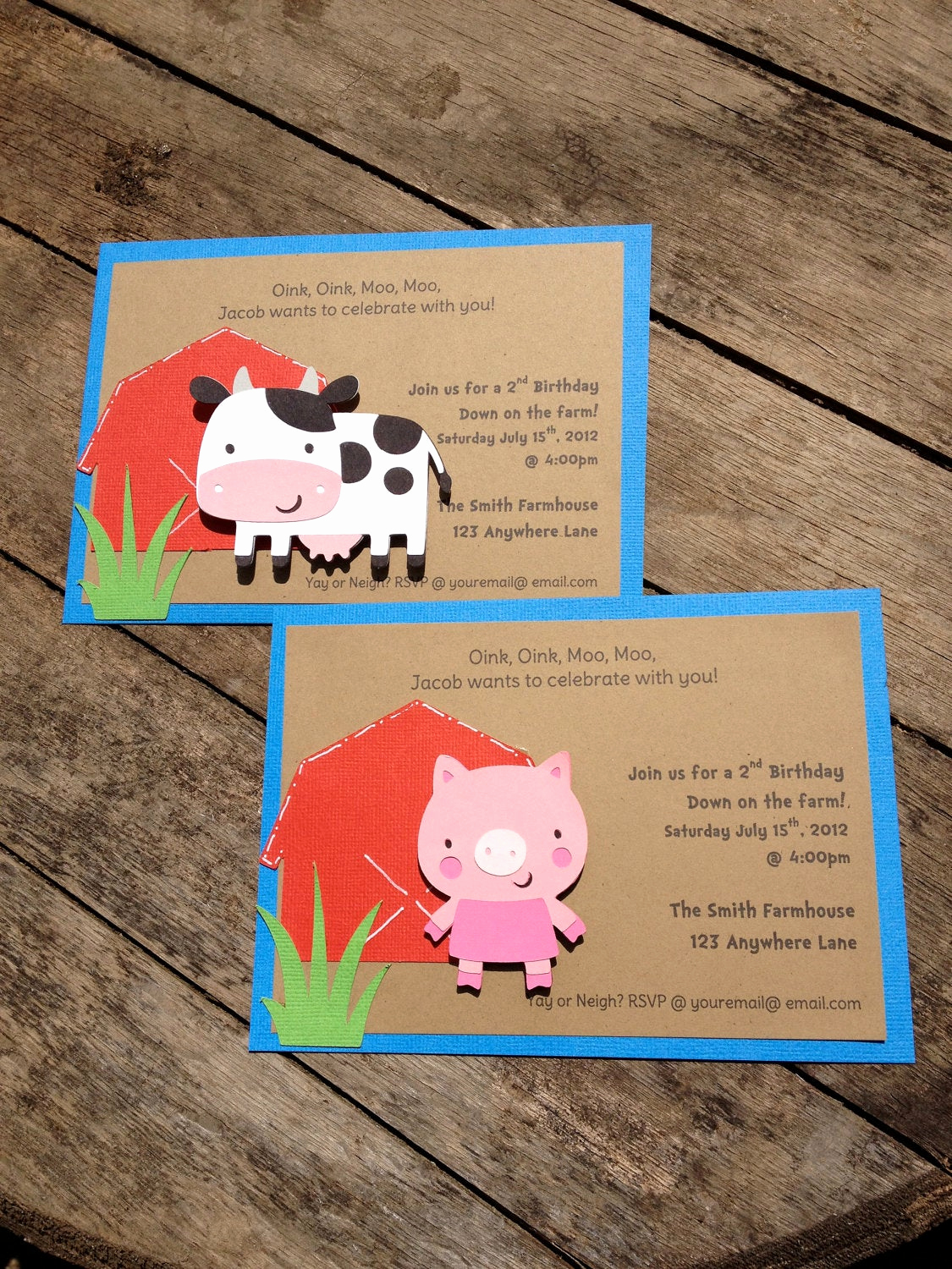 Barnyard Birthday Invitation Templates Unique Barnyard Farm Party Invitations Cow Pig Barn Birthday