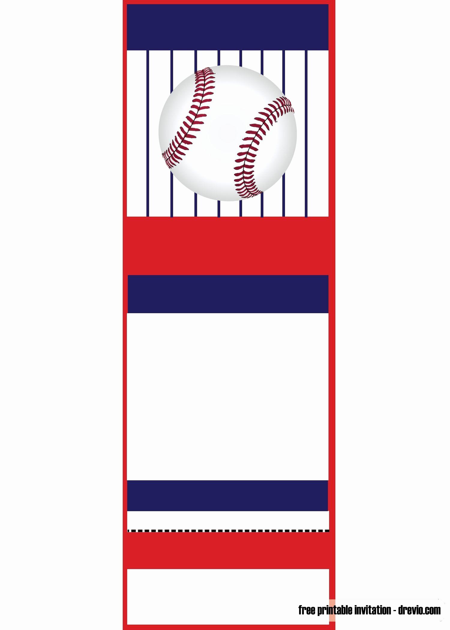 Baseball Invitation Template Free Best Of Free Printable Baseball Ticket Invitation