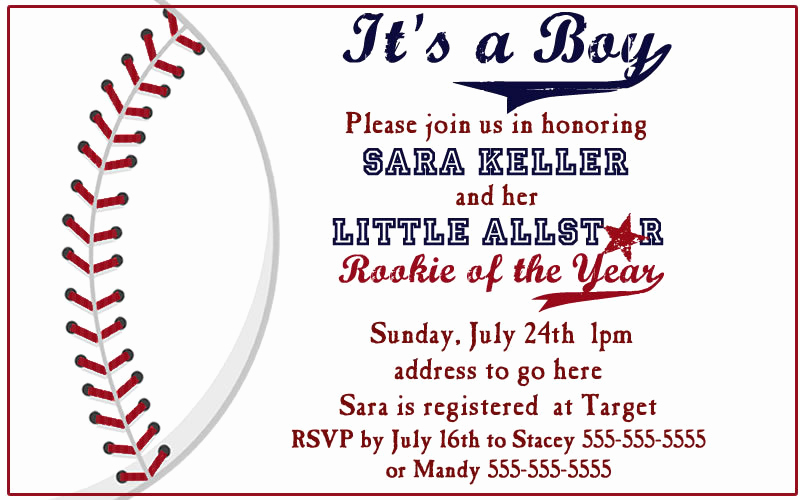 Baseball Invitation Template Free Best Of Items Similar to Baseball Baby Shower Invites On Etsy