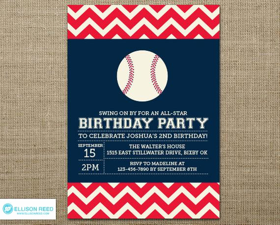 Baseball Invitation Template Free Elegant Baseball Invitation Baseball Printable Sports Invitation