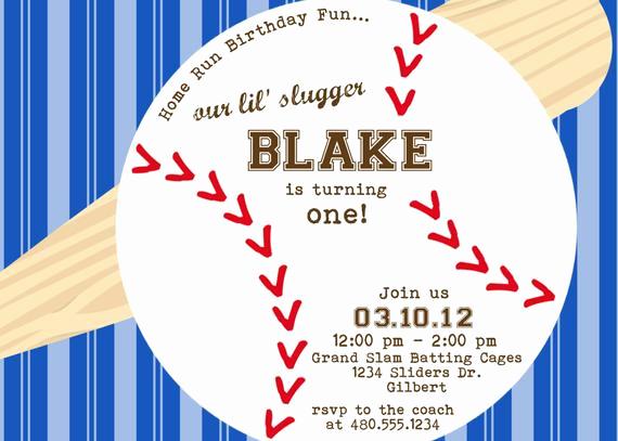 Baseball Invitation Template Free Fresh Items Similar to Baseball theme Printable Party Birthday