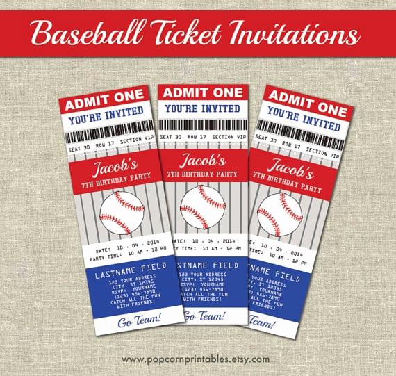 Baseball Invitation Template Free Inspirational Baseball Ticket Invitation Template Free