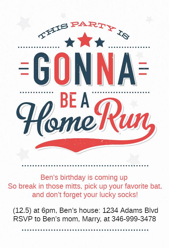 Baseball Invitation Template Free Luxury A Home Run Of Baseball Fun Birthday Invitation Template