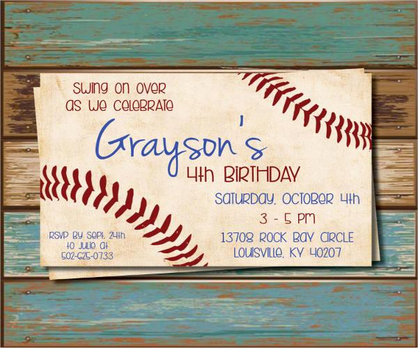 Baseball Invitation Template Free New 11 Baseball Party Invitation Design Templates Psd Ai