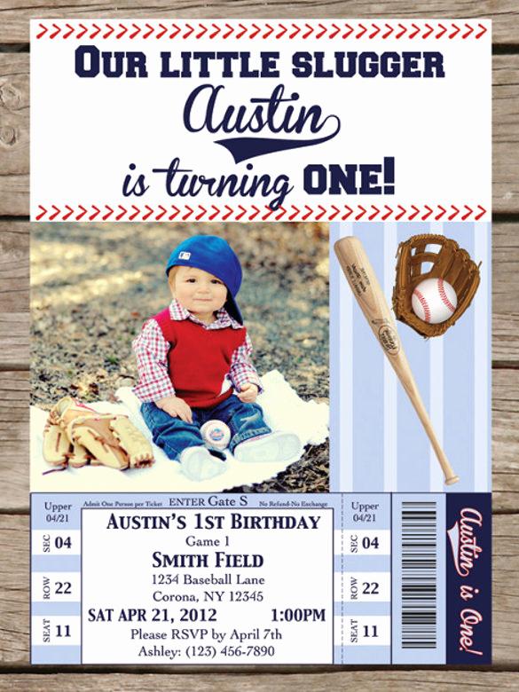Baseball Invitation Template Free New 17 Baseball Birthday Invitations Psd Vector Eps Ai