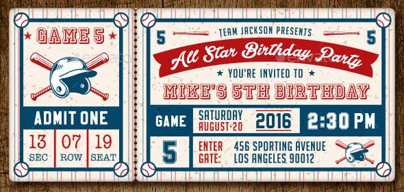 Baseball Invitation Template Free New 25 Awesome Psd Ticket Invitation Design Templates – Bashooka