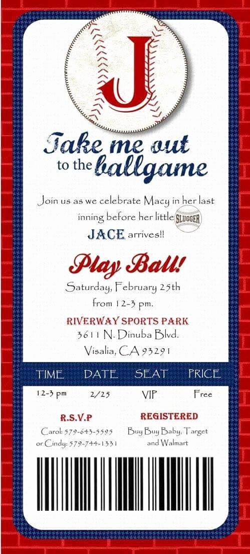 Baseball Ticket Invitation Template Free Best Of 25 Best Ideas About Baseball Invitations On Pinterest