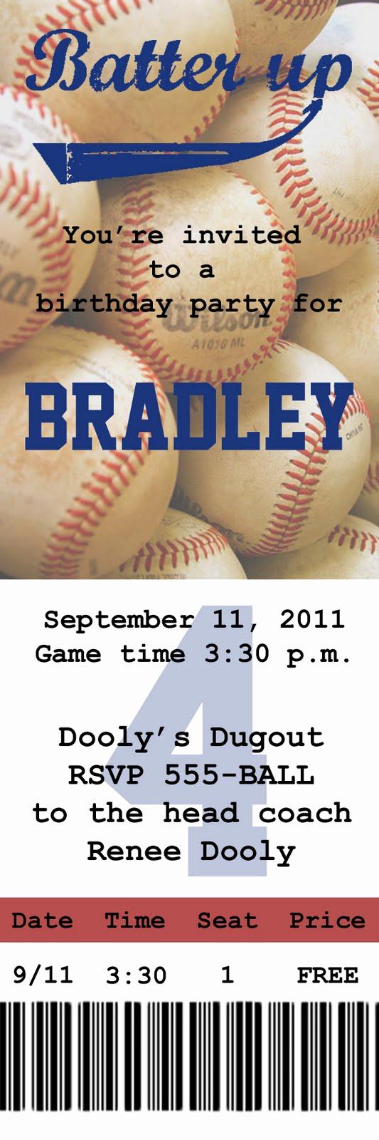 Baseball Ticket Invitation Template Free Fresh Gobs Of Giggles Baseball Party Invite