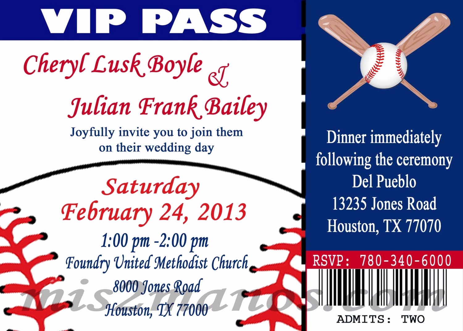 Baseball Ticket Invitation Template Free Inspirational Baseball theme Wedding Party Printable Ticket Invitations Diy