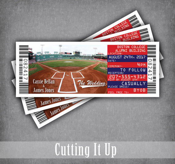 Baseball Ticket Invitation Template Free Lovely Boston Red sox Invitation Tickets Chicago Cubs Baseball