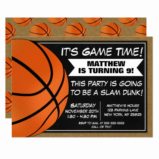 Basketball Ticket Invitation Template Awesome Basketball Birthday Party Invitation Fans