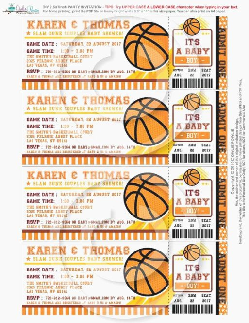 Basketball Ticket Invitation Template Awesome Best Candid Printable Basketball Ticket Invitations