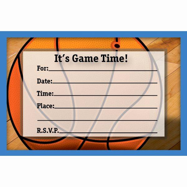 Basketball Ticket Invitation Template Free Awesome Free Printable Basketball Birthday Invitations