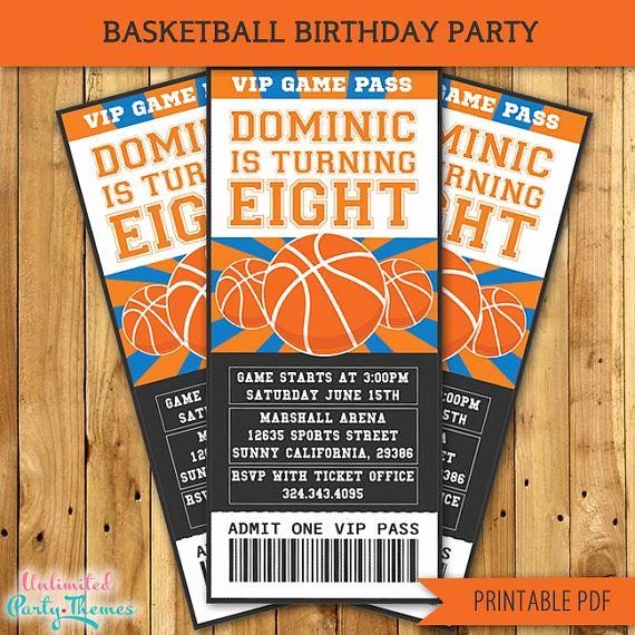 Basketball Ticket Invitation Template Free Best Of Best 25 Basketball Birthday Parties Ideas On Pinterest