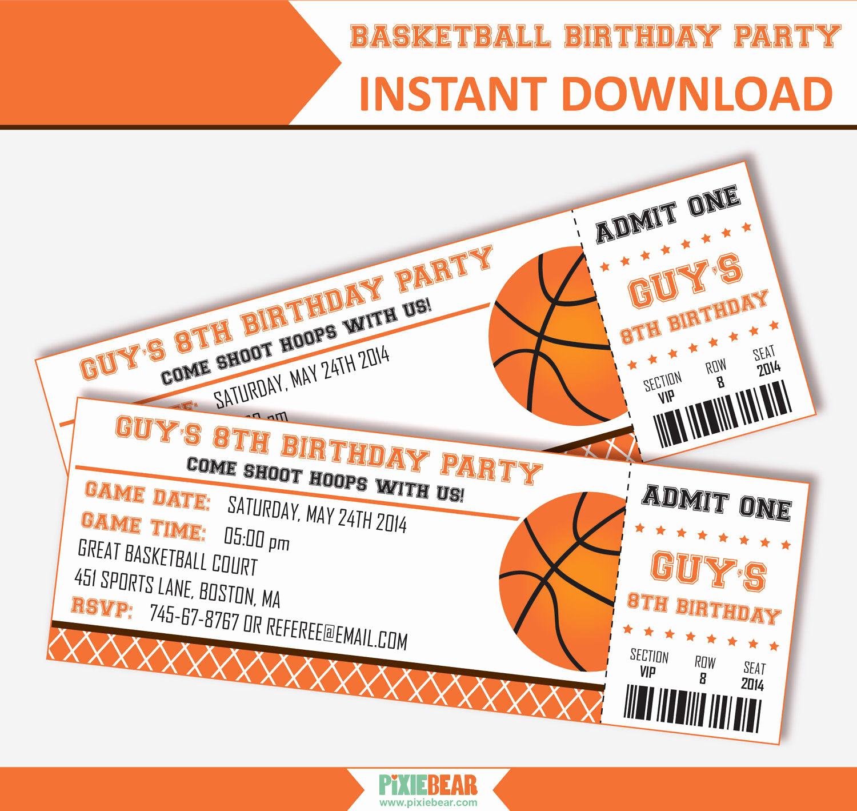 basketball party invitation basketball