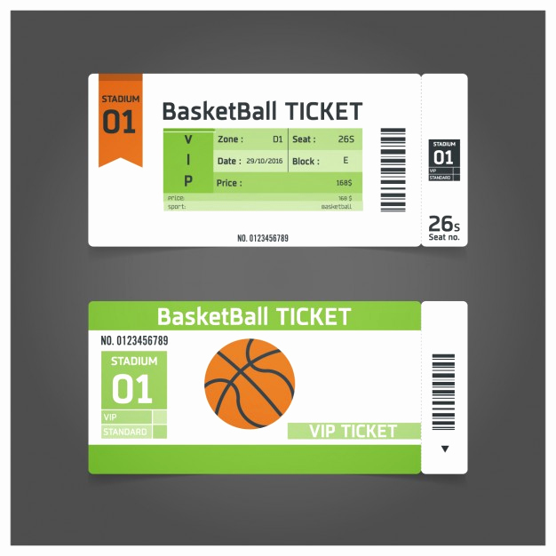 Basketball Ticket Invitation Template Free Fresh Basketball Match Ticket Template Vector