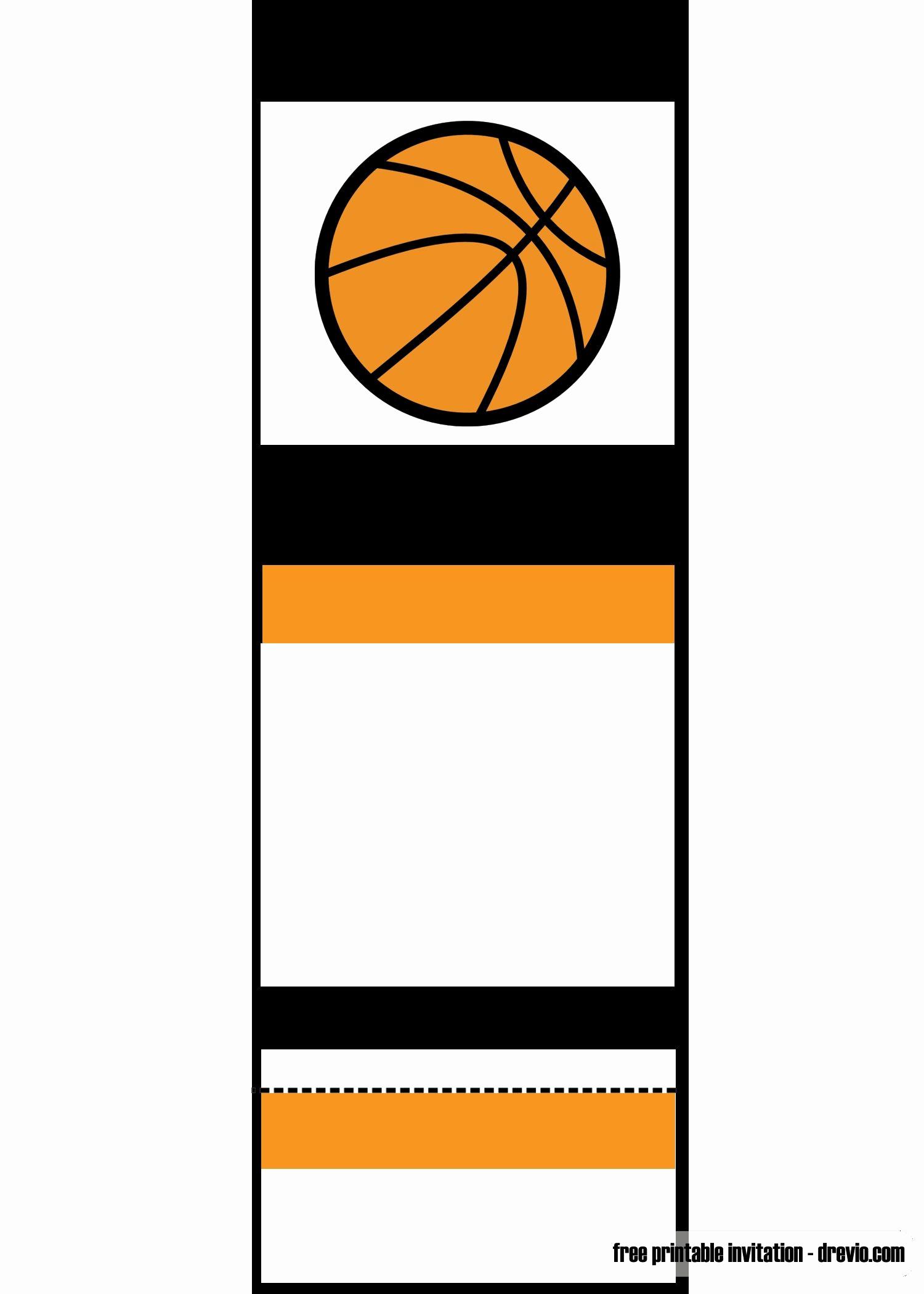 Basketball Ticket Invitation Template Fresh Free Printable Basketball Ticket Invitation