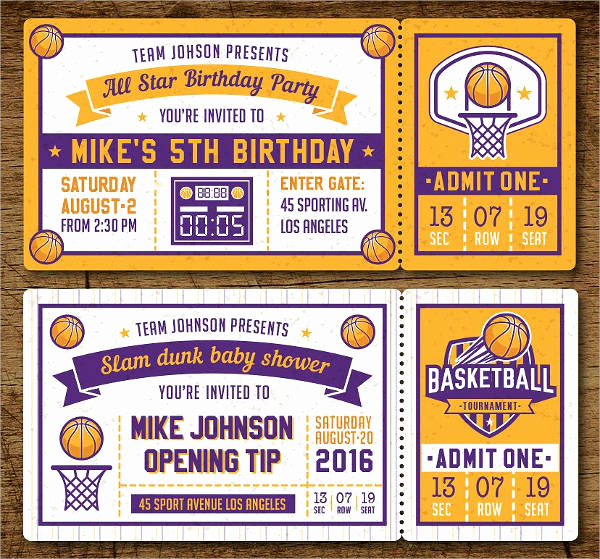 Basketball Ticket Invitation Template Inspirational 12 Raffle Tickets Psd Ai Eps