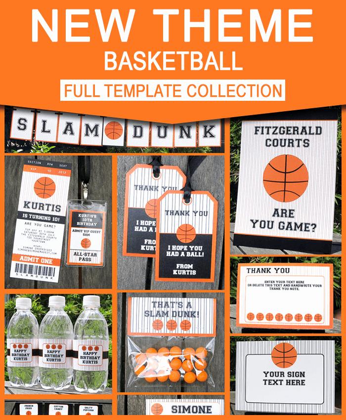 Basketball Ticket Invitation Template Unique Basketball Ticket Invitation & Printable Party Collection