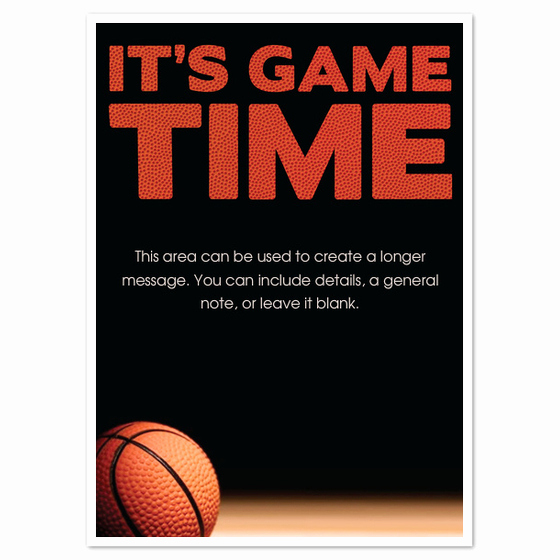 Basketball Ticket Invitation Template Unique Game Time Basketball Invitations & Cards On Pingg