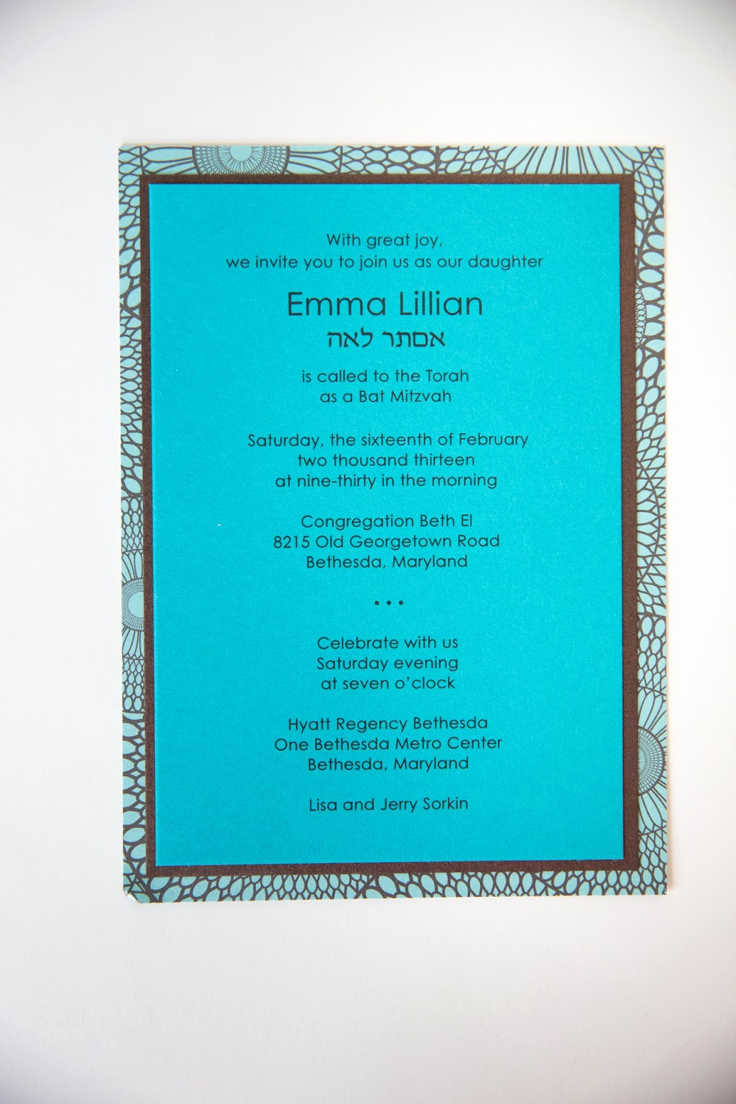 Bat Mitzvah Invitation Wording Luxury Kindly R S V P Designs Blog June 2013