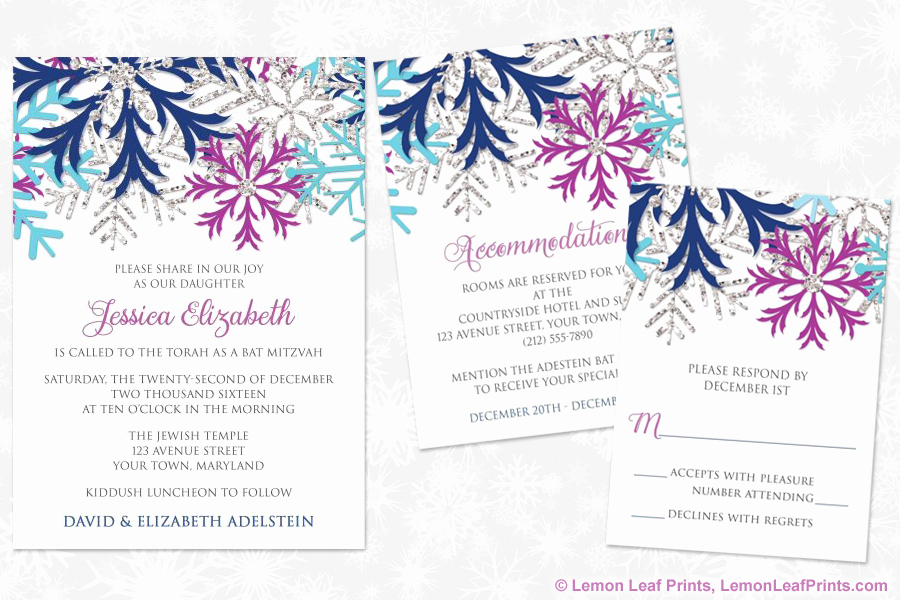 Bat Mitzvah Invitation Wording Luxury Party Simplicity Winter Wonderland Bat Mitzvah Invitations