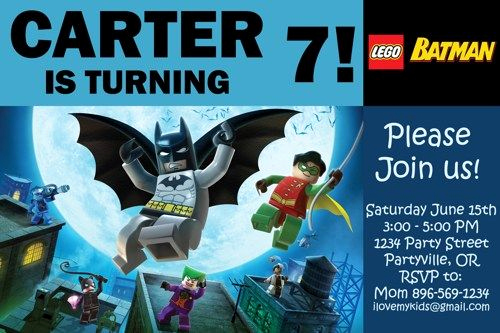 Batman Birthday Invitation Templates Awesome 17 Best Ideas About Lego Batman Birthday On Pinterest