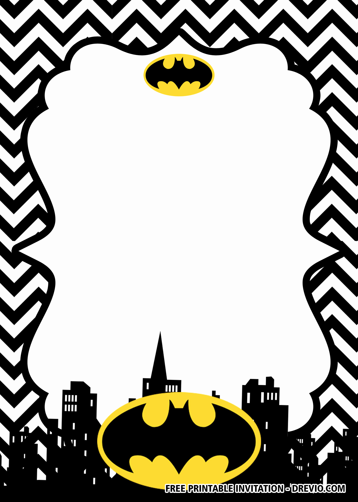 Batman Birthday Invitation Templates Awesome Free Printable Batman Birthday Invitation Templates