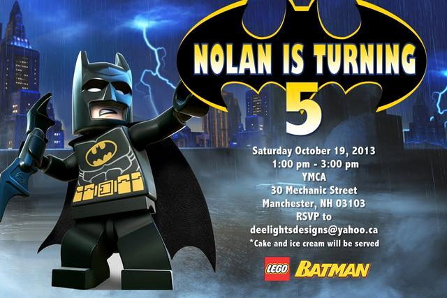 Batman Birthday Invitation Templates Lovely Lego Birthday Party Invitations What are You Waiting for