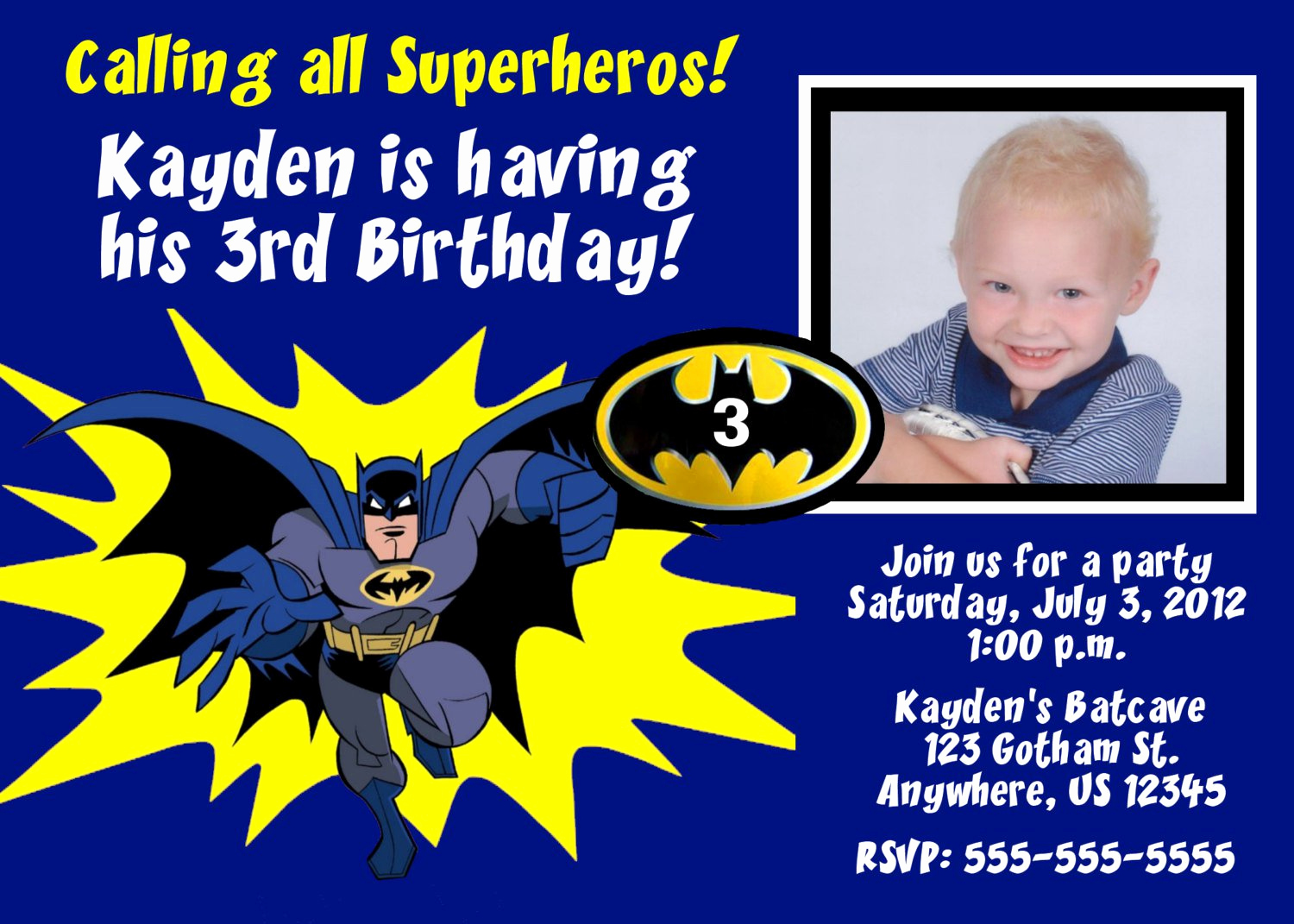 Batman Birthday Invitation Templates Luxury Batman Birthday Invitation Cards