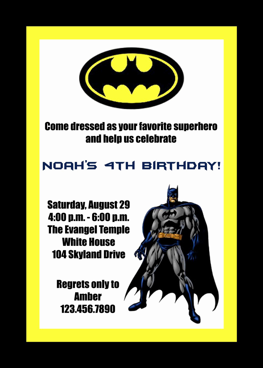 Batman Birthday Invitation Templates New Batman Birthday Invitations Printable